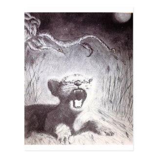 Yawning Tiger Cub Postcard