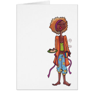 Yawning women notecard stationery note card