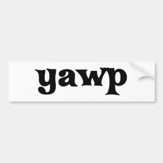 Yawp Bumper Sticker