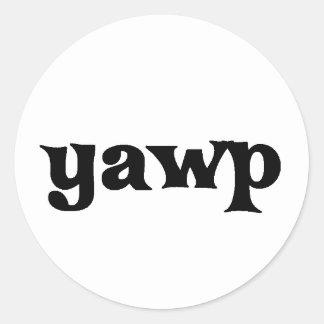 Yawp Classic Round Sticker