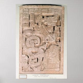 Yaxchilan lintel , Late Classic period Poster