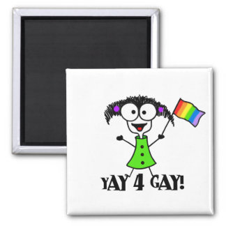 Yay 4 Gay Magnet Magnet