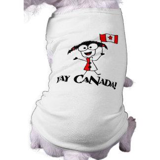 ¡Yay Canadá! Camisa del perro Playera Sin Mangas Para Perro