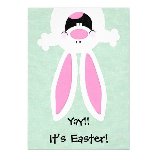 ¡Yay! ¡Es Pascua! Invitación de la caza del huevo