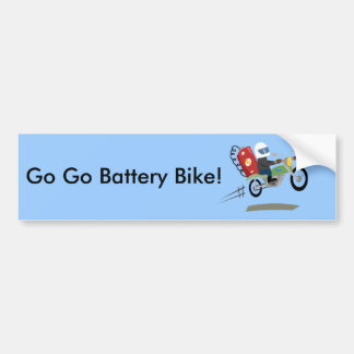 Yay For Color Battery Bike Bumper Sticker