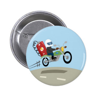 Yay For Color Battery Bike Pinback Buttons