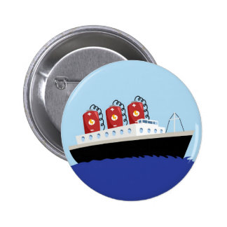 Yay For Color Battery Boat Pinback Buttons