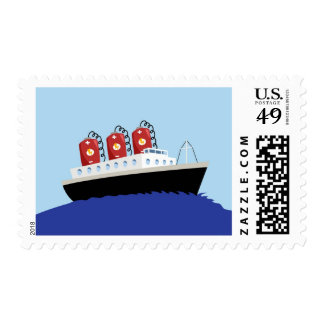 Yay For Color Battery Boat Postage Stamp