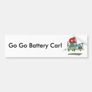 Yay For Color Battery Car Bumper Sticker