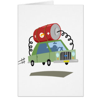Yay For Color Battery Car Greeting Card