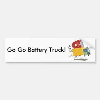 Yay For Color Battery Truck Bumper Sticker