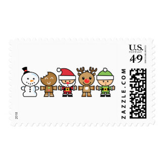 Yay For Color Five Xmas Characters Stamps