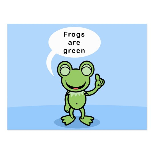 Yay For Color Frog Character Postcard