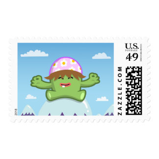 Yay For Color Meditate on Mountain Postage