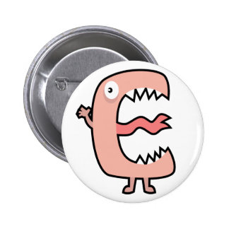 Yay For Color Monster Alphabet Pinback Buttons