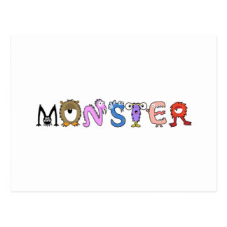 Yay For Color Monster Alphabet Postcard
