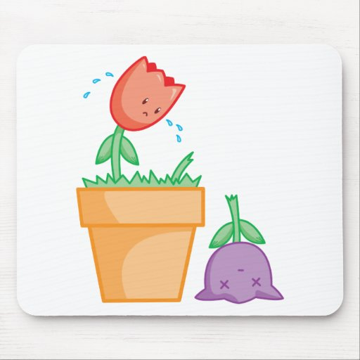 Yay For Color Two Tulips in a Pot Mouse Pad