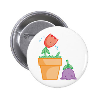Yay For Color Two Tulips in a Pot Pinback Buttons