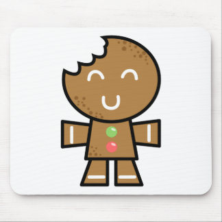 Yay For Color Xmas Character - Gingerbread Man Mouse Pad