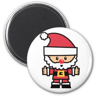 Yay For Color Xmas Character - Santa Claus Magnet
