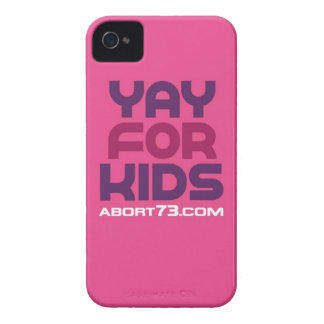 Yay for Kids / Abort73.com iPhone 4 Cover