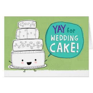 YAY for Wedding Cake!  Customizable Card