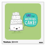 YAY for Wedding Cake! Fun Kawaii Talking Cake Wall Decor