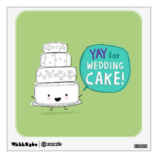 YAY for Wedding Cake! Fun Kawaii Talking Cake Wall Decor