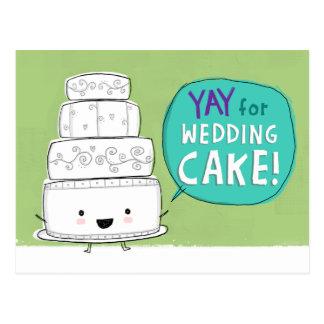 Yay for Wedding Cake! Postcard