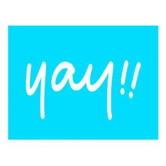 YAY Happy Celebration Positive Message Handwriting Postcard
