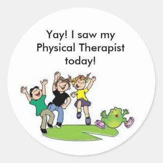 Yay I saw myPhysical Therapisttoday Round Sticker