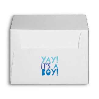 YaY It's a Boy Envelope