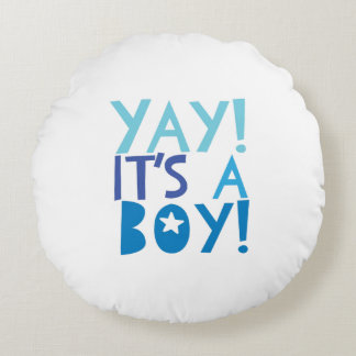 YaY It's a Boy Round Pillow
