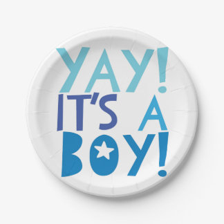YaY It's a Boy 7 Inch Paper Plate