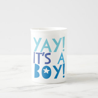 YaY It's a Boy Tea Cup