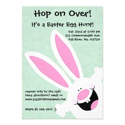 Yay! It's Easter! Easter Egg Hunt Invitation (back side)