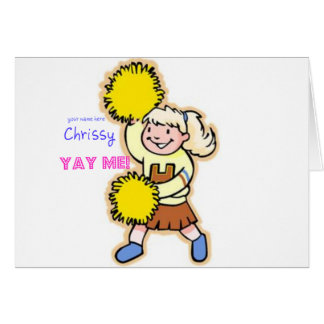 Yay Me! Cheertastic Cheerleader Greeting Card