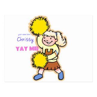 Yay Me! Cheertastic Cheerleader Postcard