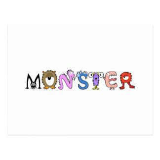Yay para el alfabeto del monstruo del color tarjetas postales