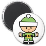 Yay para el carácter de Navidad del color - duende Iman De Frigorífico