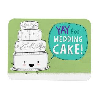 ¡YAY para el pastel de bodas! Imán flexible