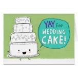¡YAY para el pastel de bodas!  Personalizable Tarjetas