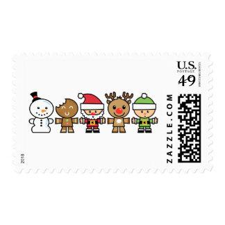 Yay para los caracteres de Navidad del color cinco Sellos