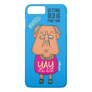 Yay, Still Alive - Grumpy old man blue cartoon iPhone 8 Plus/7 Plus Case