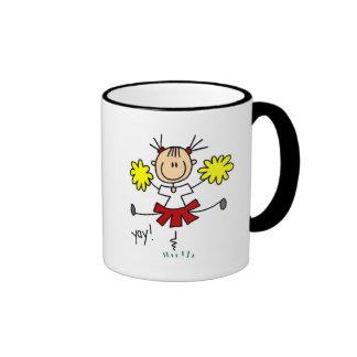 Yay Team Cheering Tshirts and Gifts Ringer Coffee Mug
