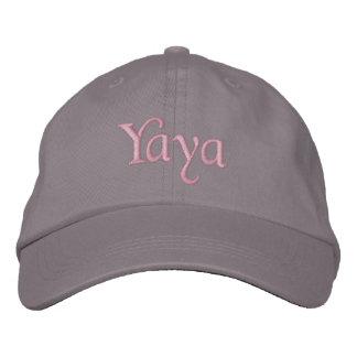 Yaya bordó gris del rosa del gorra de la gorra de  gorras de beisbol bordadas