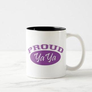 YaYa orgulloso púrpura Tazas De Café