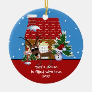 YaYa s Love House Christmas Ornament