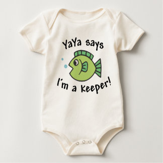YaYa Says I'm a Keeper! Baby Bodysuit