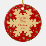 YaYa's First Christmas Red Snowflake Ornament